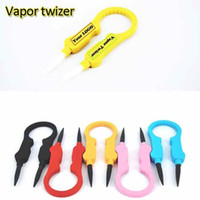 Wholesale Vapor Twizer Multifunction vaporizer Tweezers Plastic Handle Yellow Red Blue Black Pink White Color e Cigaretter RDA DIY Handle Tweezers