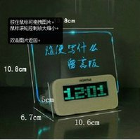 Wholesale Led message board message board clock with multicul functions new and creative birthday gift