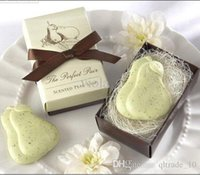 baby nest - 2015 Perfect Pair Pear Nest Scented Soap bowknot wedding festival party Decoration gift handmade soap Baby Shower BBA3349
