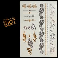 art shops jewelry - Free Shopping new Fashion body ART glitter gold stickers temporary flash tattoos Disposable sticker jewelry tatoo