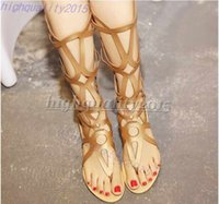 Wholesale SUMMER STYLE knee high sandals shoes women fashion women boots sandal shoes woman sexy summer women shoes gladiator sandals