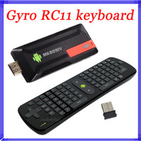 Wholesale 2 Gzh Measy RC11 Air Fly Gyro Mouse Keyboard MK809IV RK3188 Android TV Box Quad Core Mini PC A9 Ghz Bluetooth G G MK809 IV