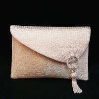 beaded business - High grade Pure Handmade Beaded Diamond Silver Totes Bag Women Cluches