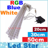 Advertisement ac star - 40pcs sets cm cm cm waterproof Meteor Shower Rain Tubes LED Light for Party Wedding Decoration Christmas Holiday LED Meteor Light