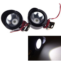 Wholesale 2Pcs Universal Led Motorcycle Light Motorbike LED Front Headlight Head Lamp Spot Light