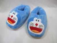 Wholesale Hot sale Pairs Doraemon Plush Slipper Shoes Cartoon Winter Slippers Indoor Bedroom Shoes