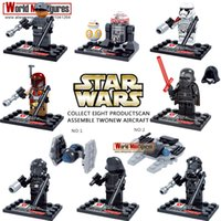 Wholesale D867 Star Wars Minifigure Kylo Ren BB R5 D4 Rey Poe Dameron Finn Force Unleashed Classic Figures Collection Kids blocks Toys