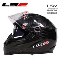 airbag band - NEW LS2 FF396 double lens carbon fiber racing motorcycle helmet band airbag edition moto cross helmets
