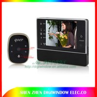 Wholesale New inch Touch Screen Digital Peephole door Viewer Video Recorder Night Vision For Sale