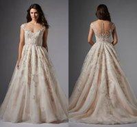audrey hand - Watters Wtoo Audrey Gown Stunning Blush Cap Sleeve garden princess Wedding Dresses Plus Size Sheer Neck Zipper Back Wedding Gown