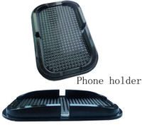 Wholesale Black Sticky Pad Magic Anti Slip Non Slip Mat dashmats For Iphone Gps holder including retail package Fedex