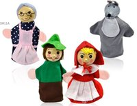 baby riding toys - New Little Red Riding Hood Finger Puppets Christmas Gifts Baby Educational Toys Storytelling Doll