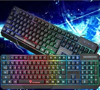 Wholesale teclados gamer gaming usb keyboard wired mechanical lol dota colors backlight led keyboards for laptops PC waterproof mute keyboards L40