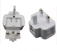 Wholesale Samsung UK Power Adapter Wall Charger USB Plug Travel Universal AC DC v A A For SamSung Galaxy S3 S4 S5 With DHL