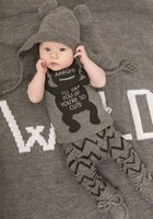 Cheap 2016 summer style infant clothes baby clothing sets boy Cotton little monsters short sleeve 2pcs baby boy clothes