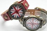 uk flag - Vintage British UK Flag Pattern Bronze Dial Lady Women Watches Leather Strap Analog Sport Quartz Watch