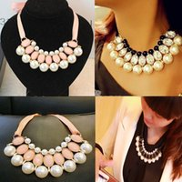 pearl choker necklace - New Fashion Pearl Jewelry Pendant Chain Choker Bib Statement Necklace Party