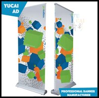 Wholesale luxury wide base roll up stand advertising display with PVC printing graphic