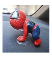 Wholesale Creative Decoration Car Spider Man Spider Man doll sucker cute cartoon car accessories decoration