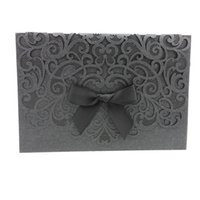 affordable wedding invitations - Black Wedding Cards Online Bowknot Affordable Modern Wedding Invitations Cards Envelope Hollow Out Printable Wedding Invitations Online