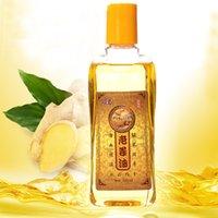 Pure Plant Wholesale-2Pcs / Lot del aceite esencial de jengibre Cuerpo Aceite de Masaje 230ml rodillera térmica jengibre Cuerpo Aceite Esencial Para Raspe Terapia SPA