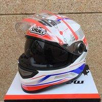 helmet - New arrival SHOEI motorcycle Helmet Mens full face helmet professional racing helmet motocicleta capacete DOT Approved white