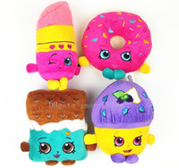 Wholesale POP plush toys cm Mini Muffin doughnut lipsticks Chocolate Stuffed Plush doll Toys