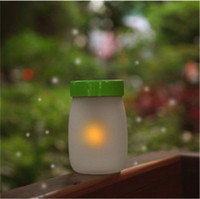 solar candle - Gift for friends LED Toys Solar panel Light fairy Jar Lamp Sound Sensor christmas gifts Led Electronic Candle