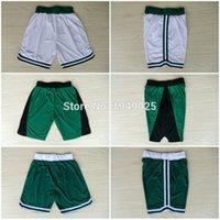 Wholesale Basketball Shorts Kevin Garnett Paul Pierce Shorts Stitched Green White Shorts Size M XXL