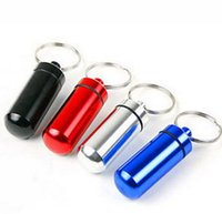 Cheap 2016 Travel Keychain Pill Box WaterProof Aluminum Case Bottle Holder Container Medicine Storage Organizer Container Case