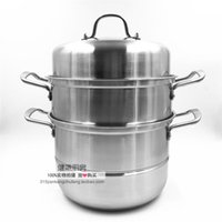 Wholesale German technology cm thick stainless steel double bottom three steamer pot multi pot cooking