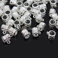 Wholesale Cool Tibetan Silver Connectors Bails fit charm European bead bracelet