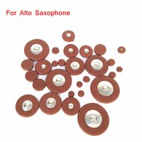 alto saxophone pads - New Arrivel Sax Leather Pads Replacement for Alto Saxophone Different Sizes Top Quality