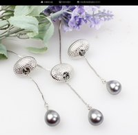 Wholesale Fashion Classic Wedding Pearl Drop Necklace Earrings Set For Women Bridal Simple Vintage Jewelry set Party Dress Accessories