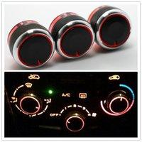 Wholesale 3pcs set Car AC panel knob for Peugeot Citroen C2 AC Heat control knobs switch Sticker accessories