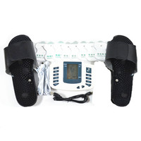Wholesale JR309A Electro Full Body Relax Foot Care Therapy Massager Electro Pulse TENS Acupuncture Slipper Foot Massager Electro Pads