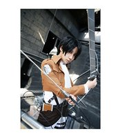 attack in black - 2015 Promotion New Adult Arrival Disfraces Carnival Costume Attack On Titan Shingeki No Kyojin Levi Rivaille Cosplay In Stock