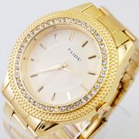 Wholesale PAIDU Luxury Created Diamond Bezel Watches Brand NEW Men Stainless Steel Top design Cheap Gold Quartz Watch
