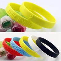 Wholesale For Kyrie Irving KI Basketball Star Silicone Bracelet Sport Men Embossed Wristband Bangles
