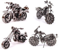 crafts and gifts - Metal simulation motorcycle model creative gift arts and crafts decoration A