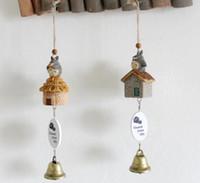 antique hood ornament - Campanula pet resin pendant duo a dream Campanula Campanula Harajuku wood decorative resin ornaments crafts creative new