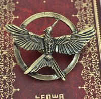 Wholesale Hot Movie Jewelry The Hunger Game Bird Brooches Alloy Pins For Women and Men