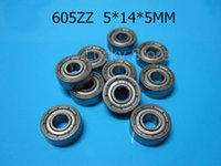 Los cojinetes 605ZZ 10pcs metal sellaron el mini cojinete de acero mini 605 605Z 605ZZ 5 * 14 * 5m m del cromo del cojinete que enviaba libremente