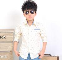 Wholesale Retail PC New Spring Autumn Children Shirts Boy s Long Sleeve Cotton Shirt Casual Fashion ZZ2380