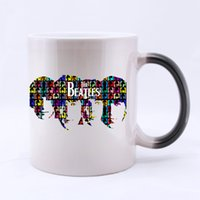 beatles coffee cup - Hot Band Beatles Custom Made Water Coffee Mug Personalized Mugs Ceramic Morphing Coffee Cups Gift Two Sides Printed