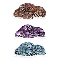 Wholesale Newest Set Multifunction Lady Make Up Cases Cosmetic Bags Women Makeup Storage Organizer Sexy Leopard Shell Shape Container