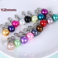 Wholesale mixed colors NEW Floating pearl DANGLES for Living Locket Necklace Charm Jewelry floating charms
