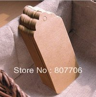 Wholesale Kraft Gift Tag kraft card hang tag swing tag