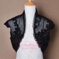 Jackets/Wraps 2014 Sheer Bridal Jacket - Black Wedding Jacket Cap sleeve Bridal bolero Wedding dress shawl Lace Sheer Bridal Wraps Jackets Fall