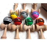 Wholesale Big Kendama Ball Multicolor Colors cm cm Japanese Traditional Wooden Toys Education Gifts Novelty Toys DHL